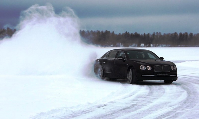 Bentley Flying Spur in Finland ice event
