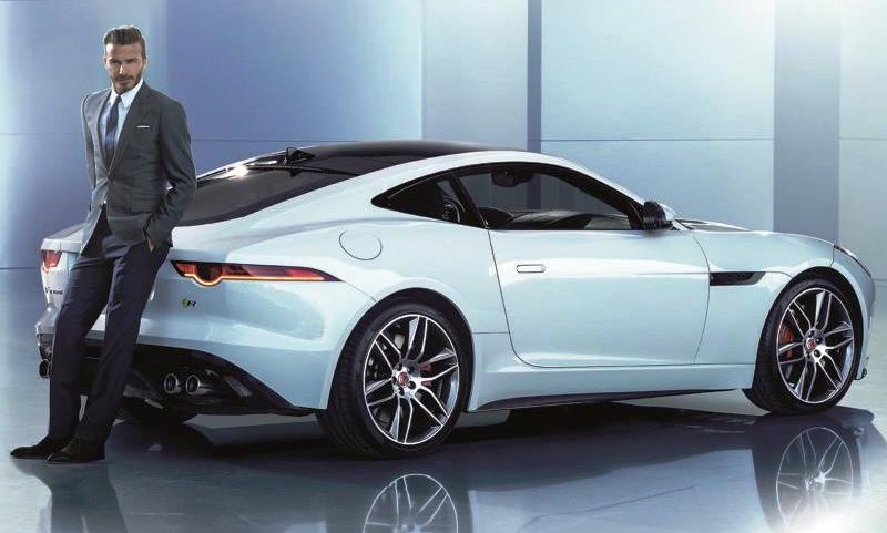 David Beckham becomes a Jaguar ambassador