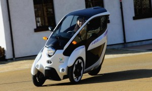 Toyota's tilting i-Road electric car on trial