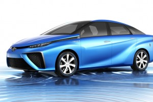 Toyota's hydrogen fuel cell-powered concept car