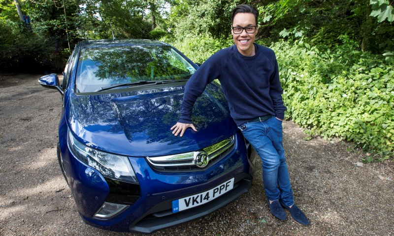 Gok Wan goes electric with a Vauxhall Ampera