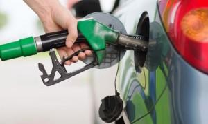 Filling up at the petrol pump