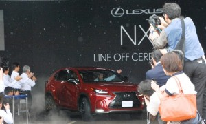 First Lexus NX rolls of the production line in Japan