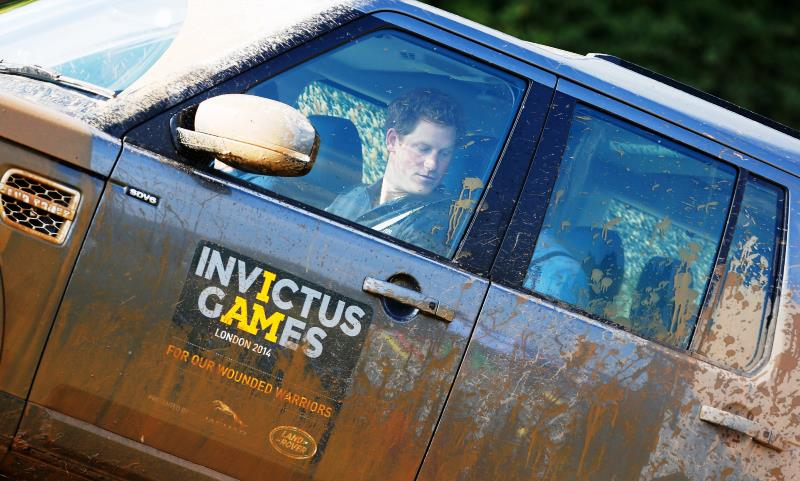Prince Harry goes off-road in a Discovery