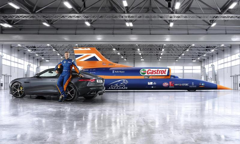 Jaguar F-Type and Bloodhound SSC