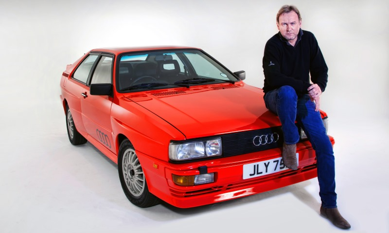 Phil Glenister with the Ashes to Ashes Audi Quattro