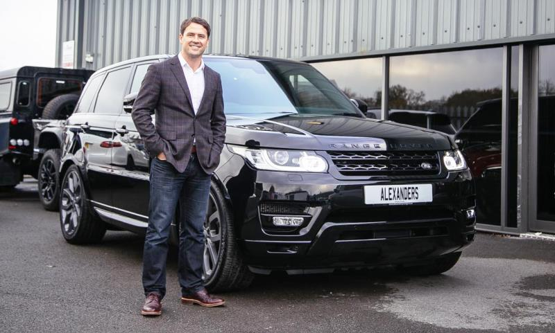 Football legend Michael Owen with his new Range Rover Sport