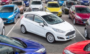 White Ford Fiesta