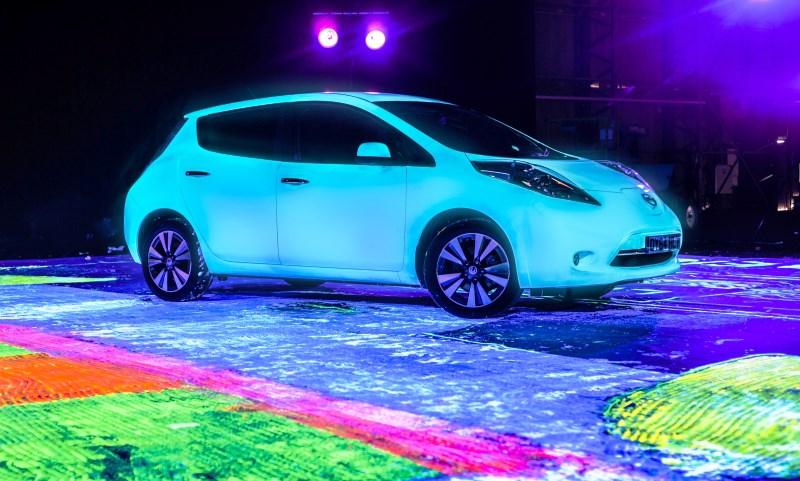 Glow-in-the-dark Nissan LEAF