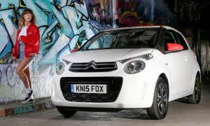 Pop star Foxes and her Citroen C1