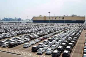Kia cars ready for export