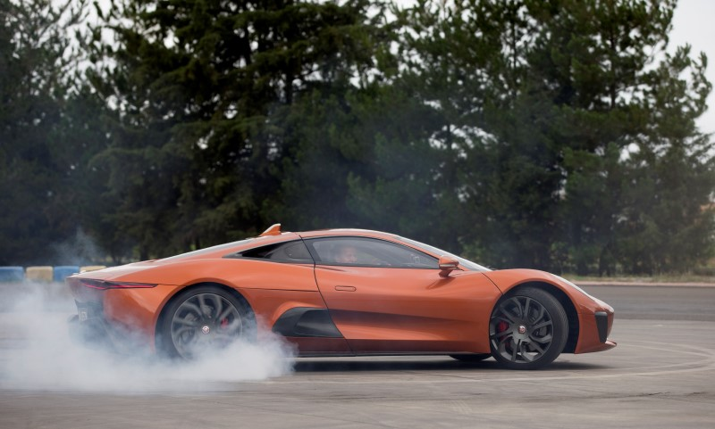 Felipe Massa drives Bond villain's Jaguar
