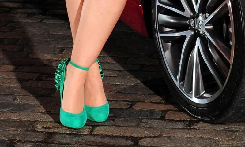 Driving in high heels