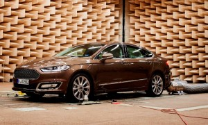 Ford Mondeo Vignale inside Ford's semi-anechoic chamber