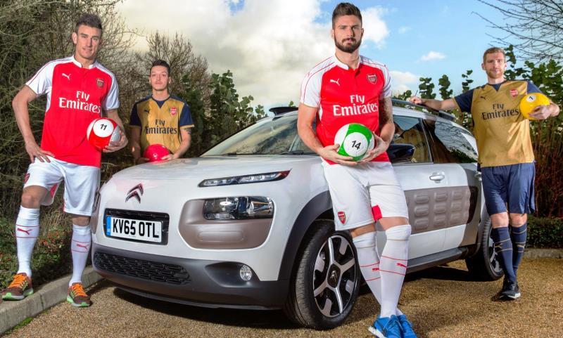 Arsenal stars play Footpool in association with Citroen