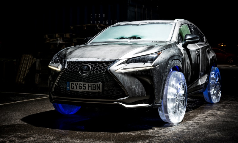 Lexus NX with ice wheels