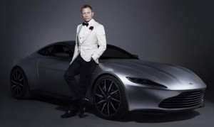 Daniel Craig and his Aston Martin DB10