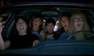 Bohemian Rhapsody scene from Wayne's World
