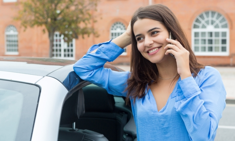 Driver using a mobile phone legally