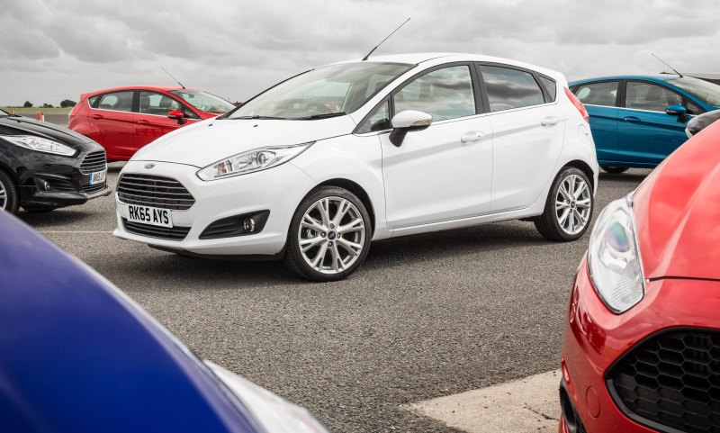 Ford Fiesta in white - the nation's favouite