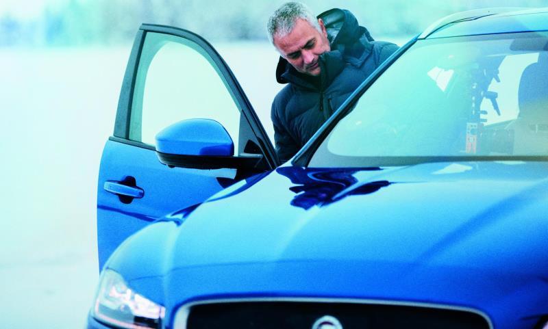 José Mourinho in a Jaguar F-Pace