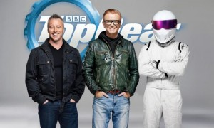 Top Gear stars Matt LeBlanc, Chris Evans and The Stig