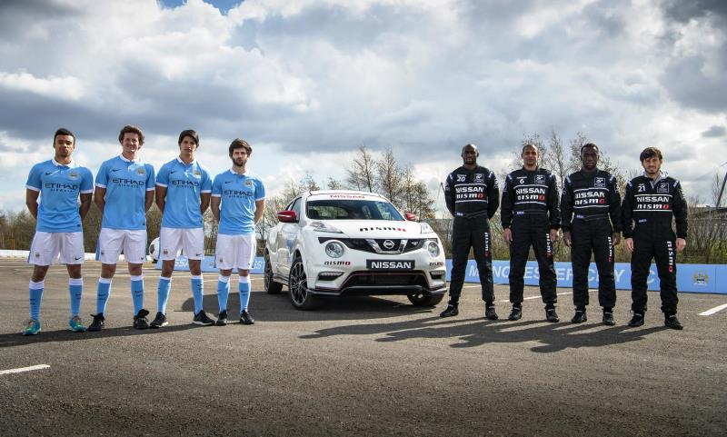 Manchester City footballers become racing drivers