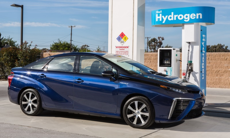 Toyota Mirai hydrogen fuel cell car