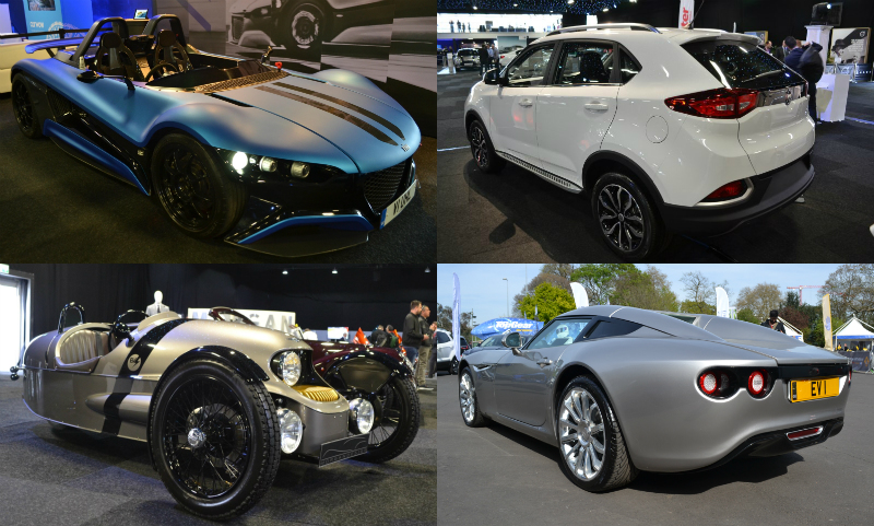 London Motor Show collage