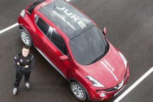Nissan Juke uses onboard cameras to set world-first blind J-turn record