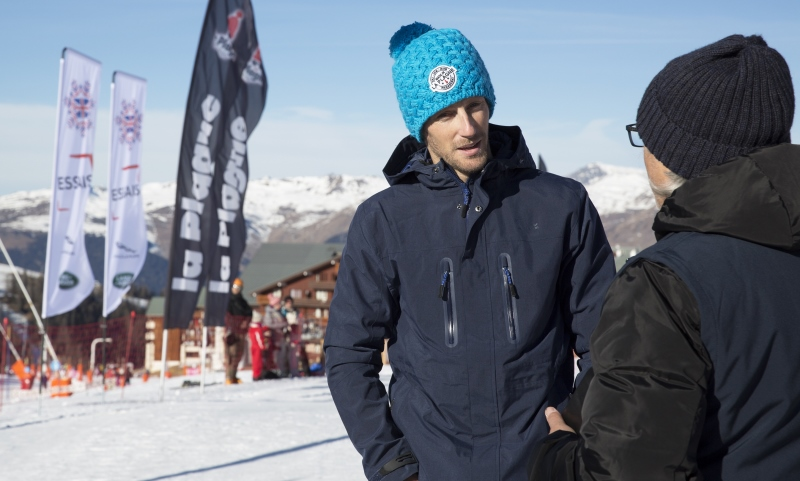 Romain Grosjean at La Plagne