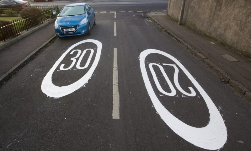 conflicting speed signs - SWNS