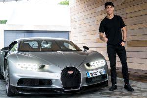 Bugatti Chiron and Cristiano Ronaldo