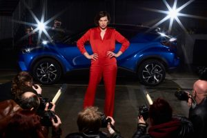 Milla Jovovich celebrates the new Toyota C-HR