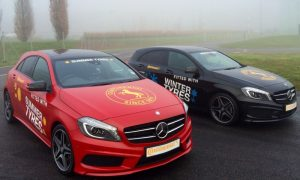 Winter tyre tests at Mercedes-Benz World
