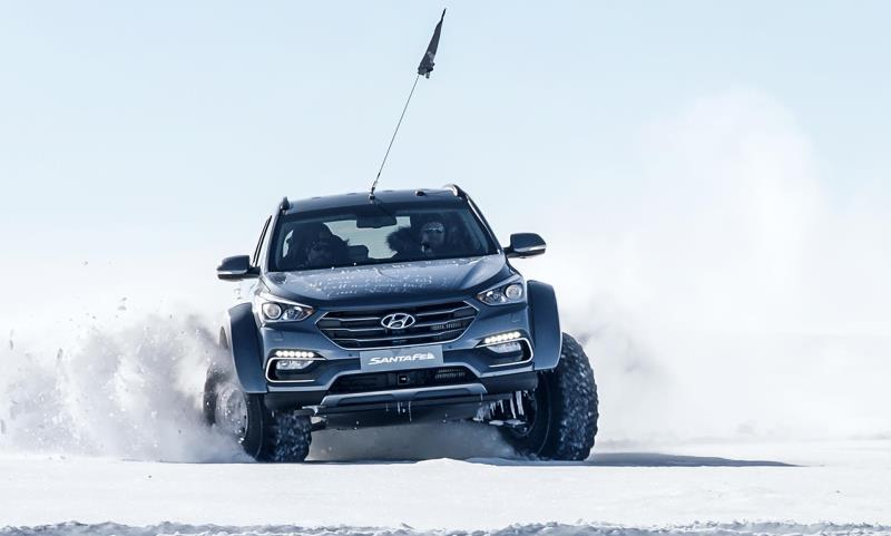 Hyundai Santa Fe conquers the Antarctic driven by Great Grandson of Sir Ernest Shackleton