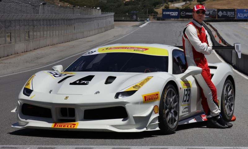 Actor Michael Fassbender Races with Ferrari.
