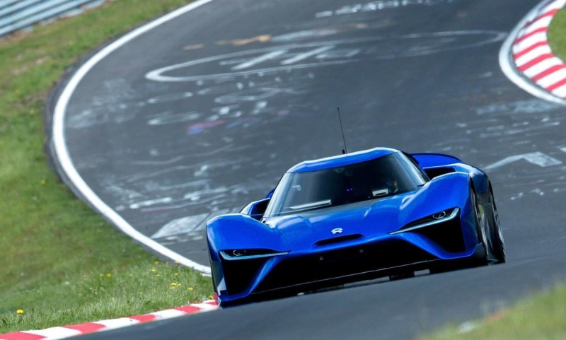 NIO EP9 all-electric supercar at the Nurburgring