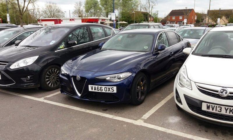 Alfa Romeo Giulia car park