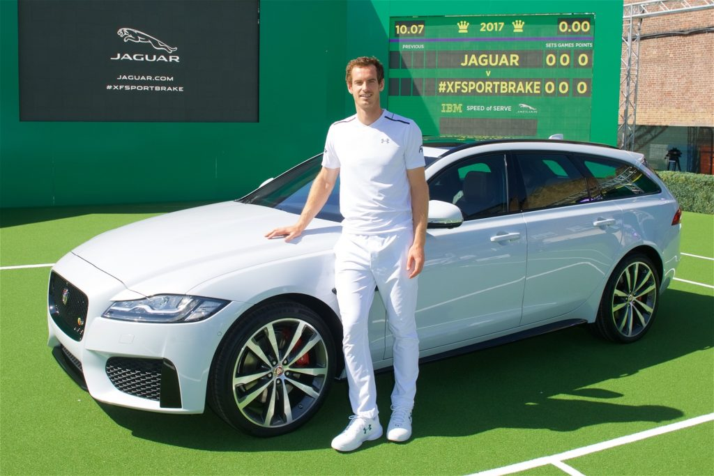 Andy Murray and the new Jaguar XF Sportbrake
