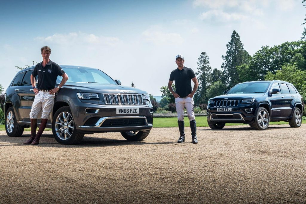 Olympic eventing medallist William Fox-Pitt and professional polo player Nic Roldan in Jeep job swap