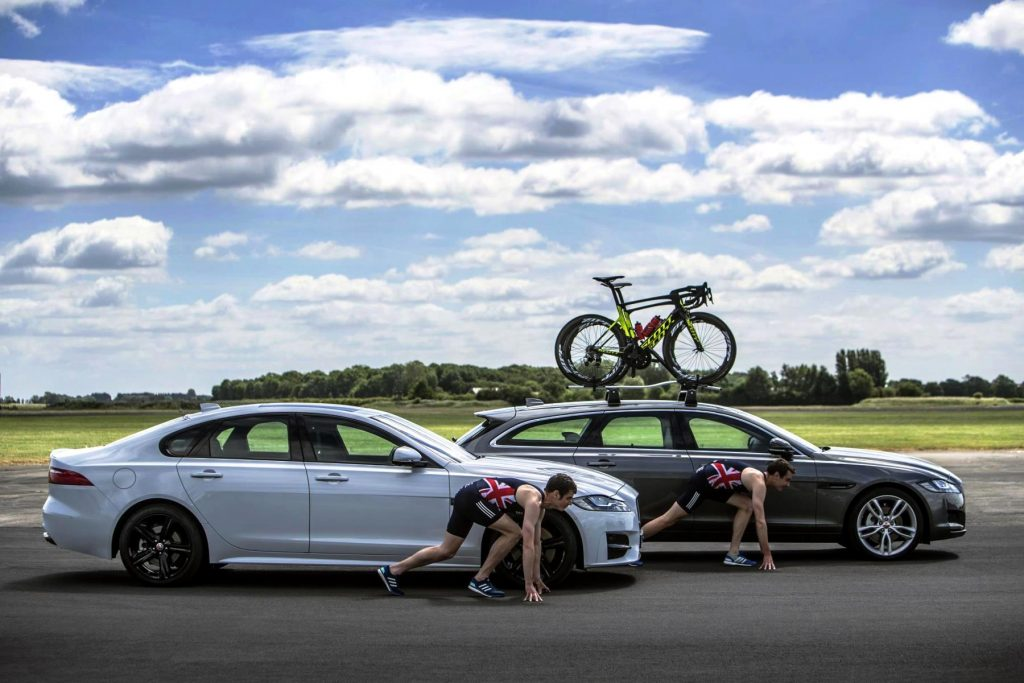 Jonny and Alistair Brownlee go head-to-head in Jaguar XF saloon and XF Sportbrake challenges