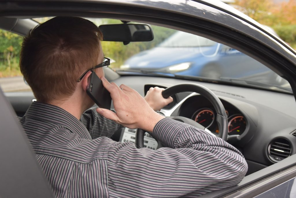 Using a mobile phone while driving