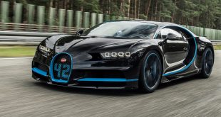 Juan Pablo Montoya drives the Bugatti Chiron