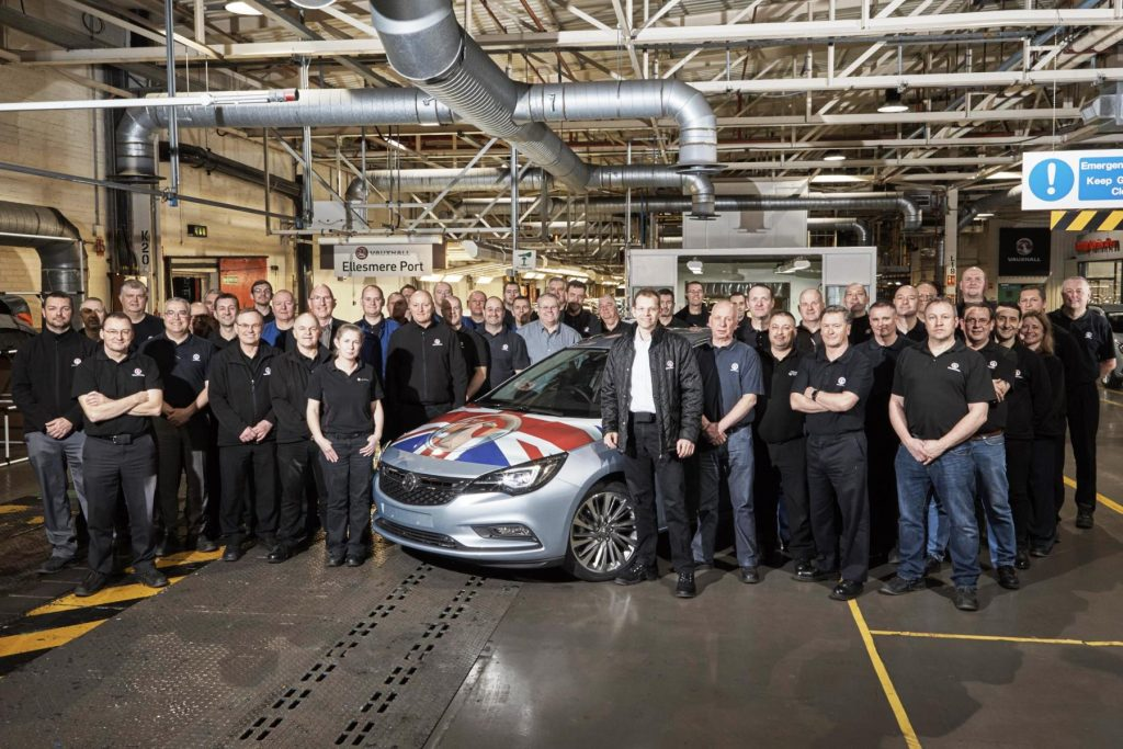Vauxhall Astra Ellesmere Port workers