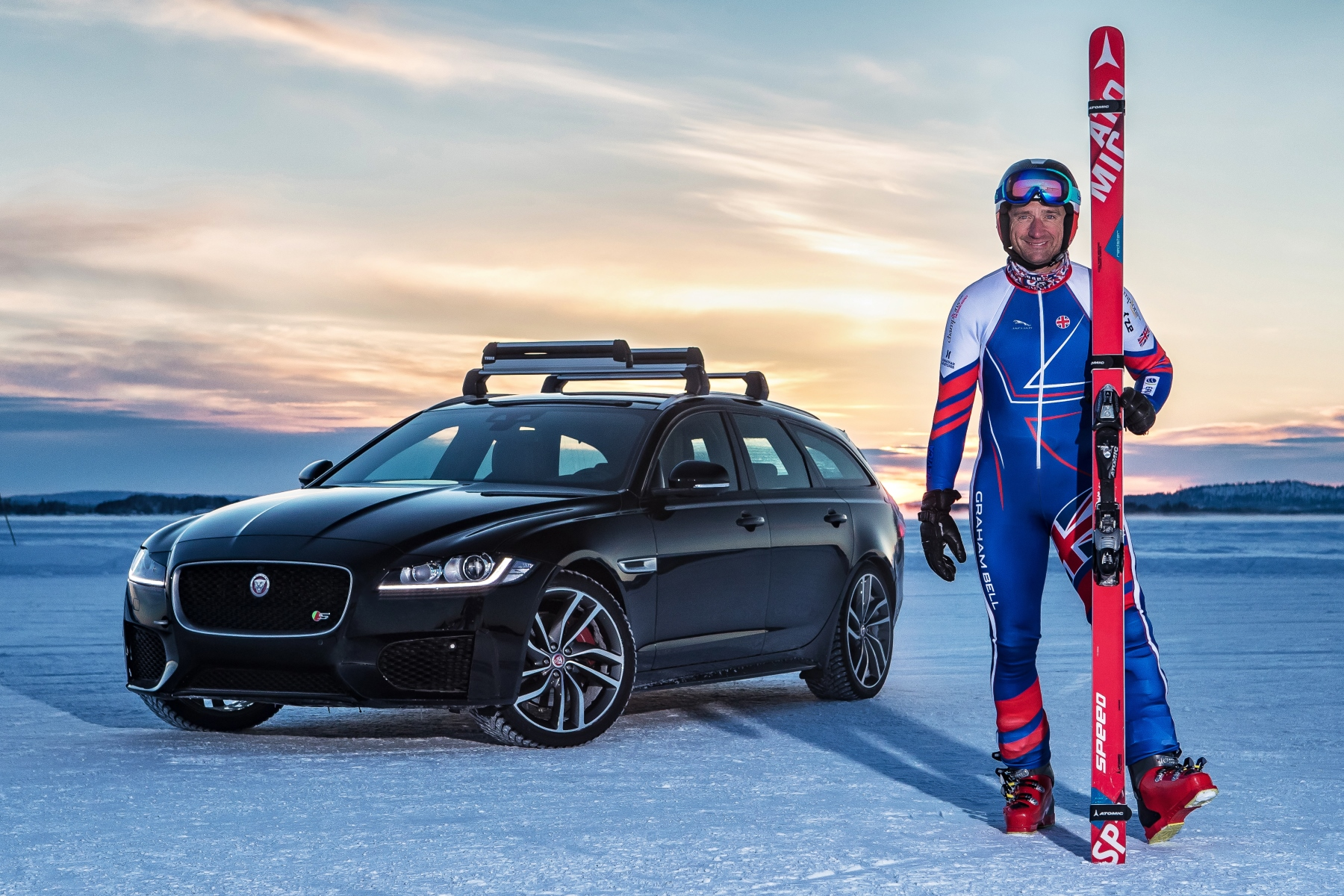 Jaguar helps set ski towing speed record