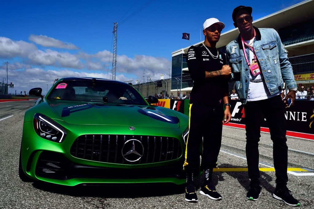 Lewis Hamilton and Usain Bolt