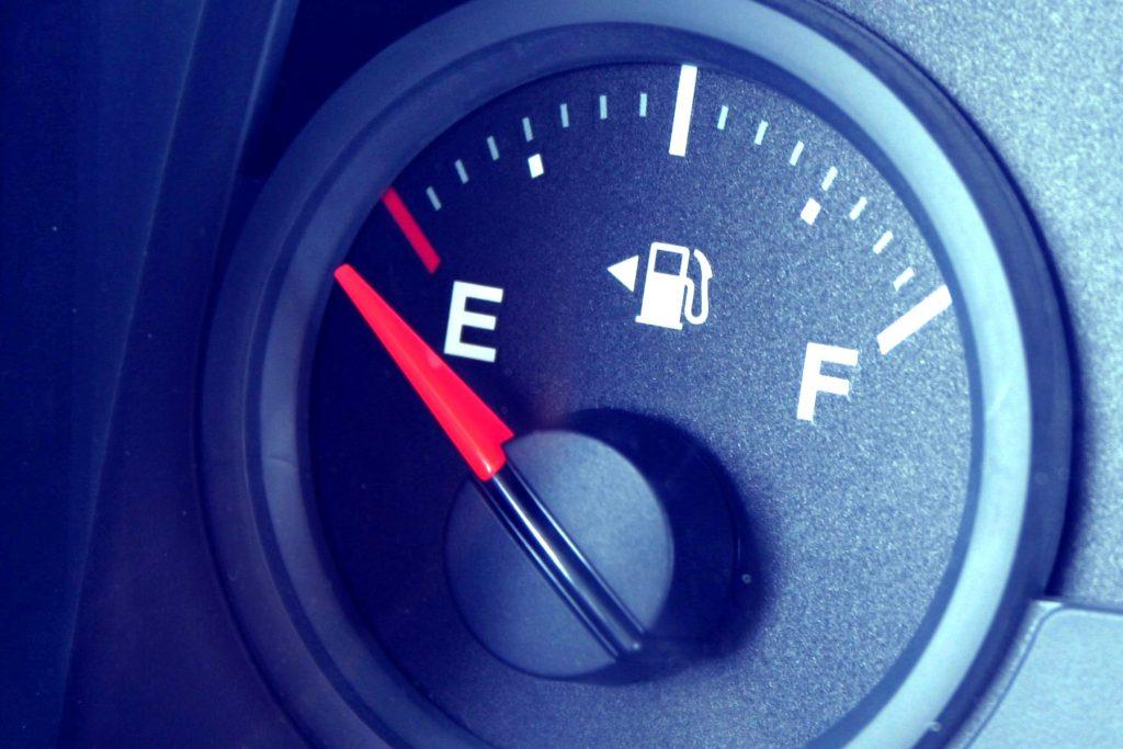 Fuel gauge - empty tank