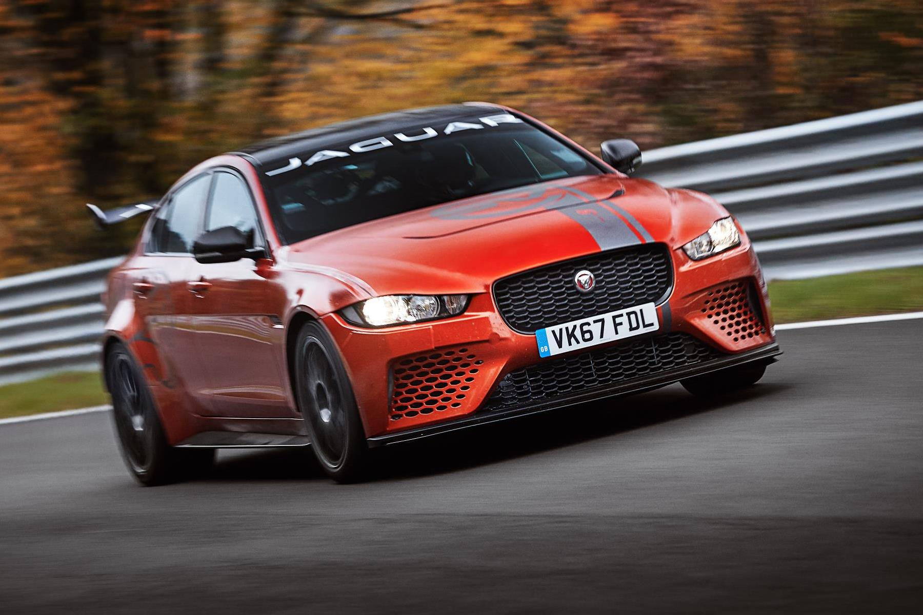 Jaguar XE SV Project 8 breaks Nurburgring four-door auto record