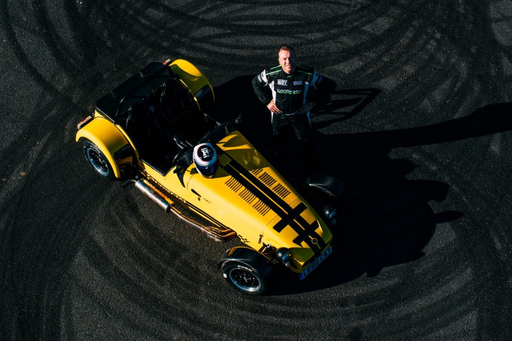 Sir Chris Hoy Caterham donut record